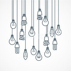 light bulb hanging on cords lamps