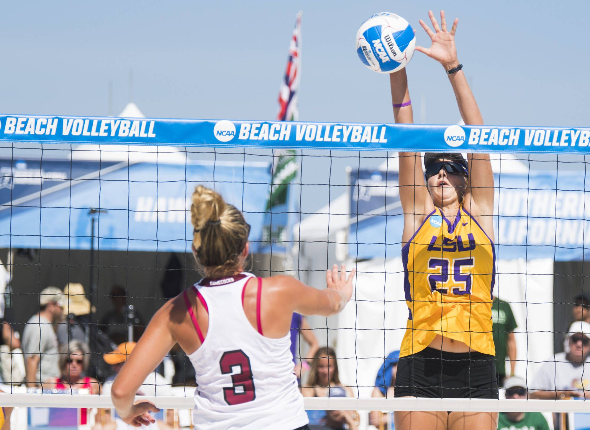Lsu Beach Volleyball Team Defeats South Carolina Advances To Saturday Beach Volleyball Volleyball Team Volleyball