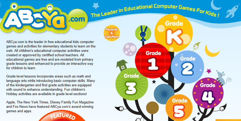 This website features free educational computer games and
