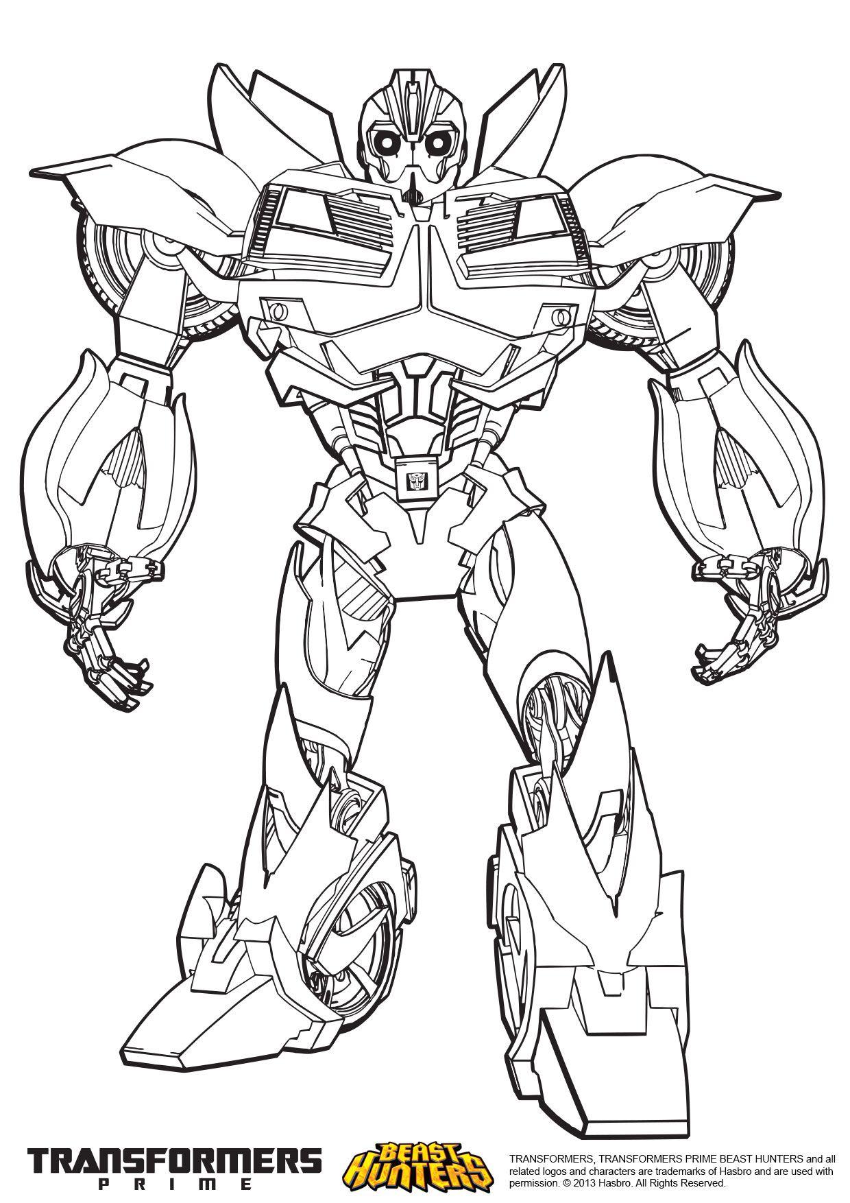 Coloriage Transformers Prime Beast Hunters Bumblebee