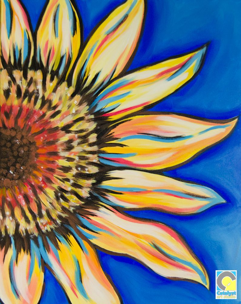 Sunflower Sip and Paint Party Paint party, Painting, Art