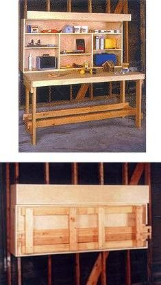 Space Saver Fold Up Workbench Plans Woodworking Ideas Garage