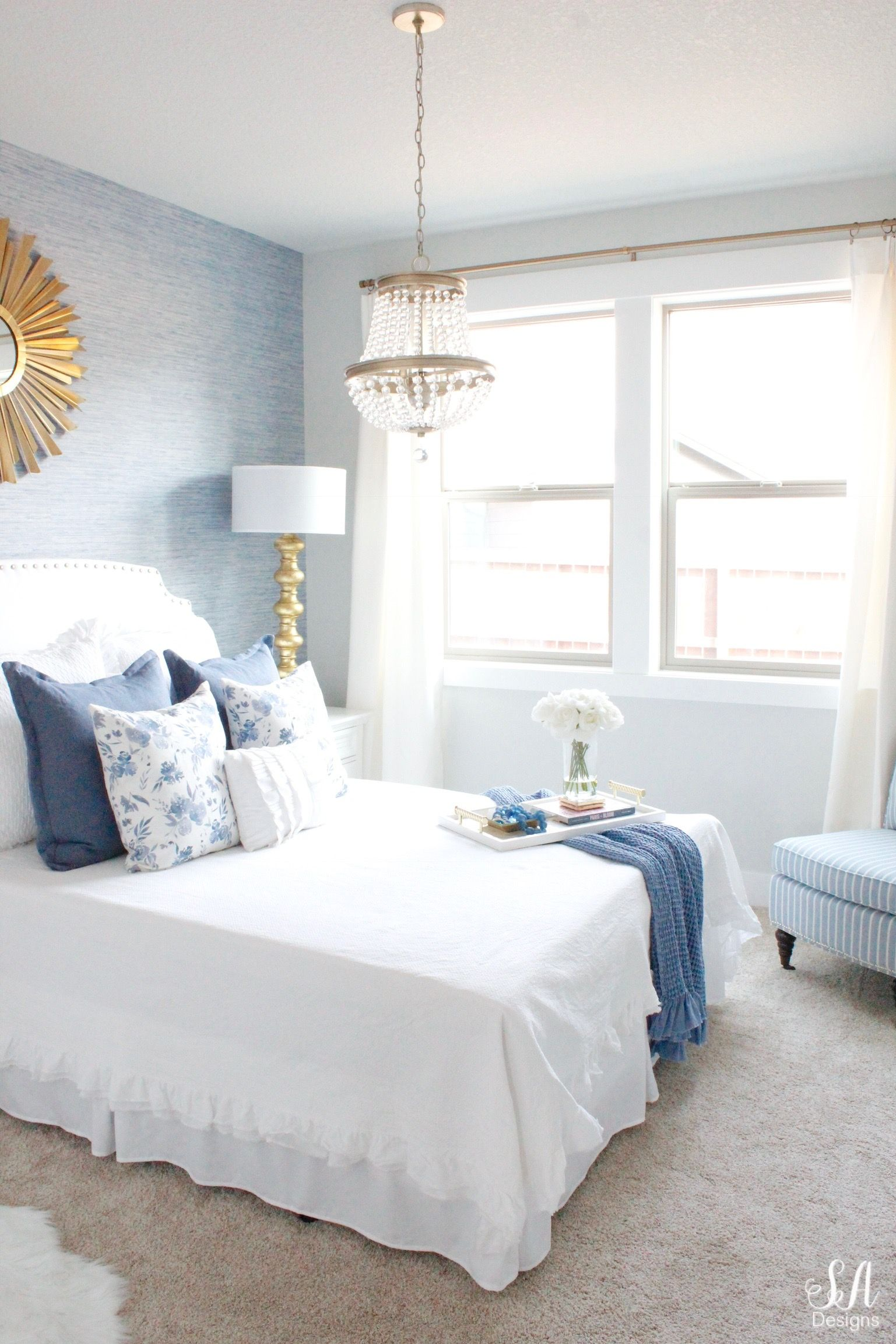 Coastal Glam Guest Bedroom Reveal Small Guest Bedroom Guest