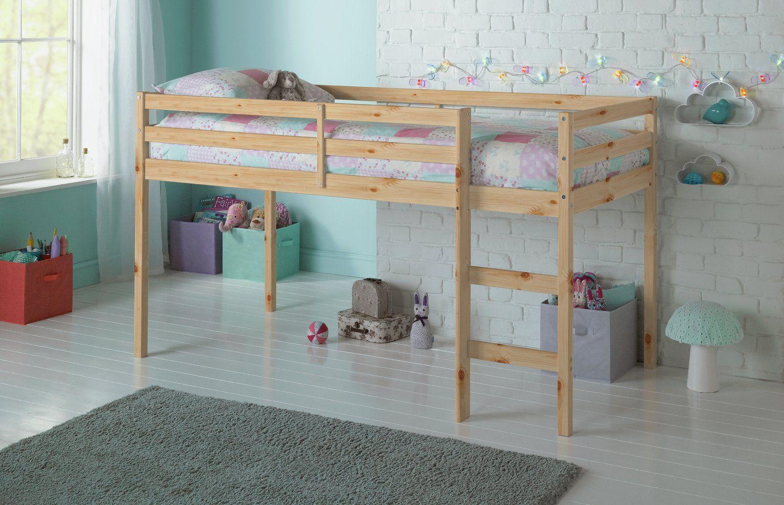 Argos Home Kaycie Pine Mid Sleeper Single Bed Frame In 2020 Kid