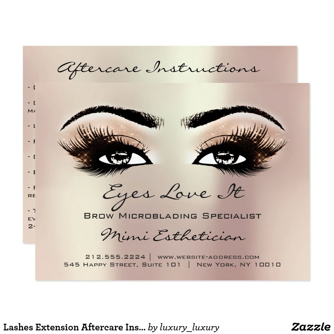 Lashes Extension Aftercare Instructions Peach Rose