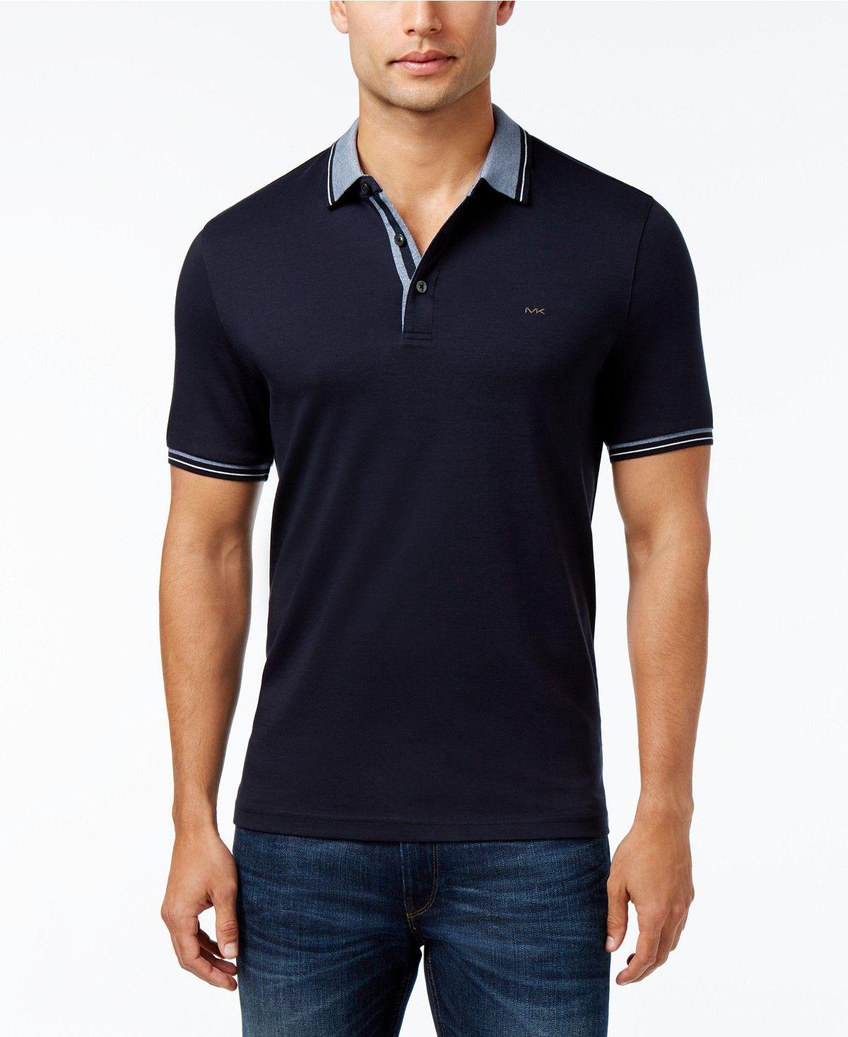07795228c Michael Kors Men's Liquid Cotton Greenwich Polo Shirt - Polos - Men - Macy's