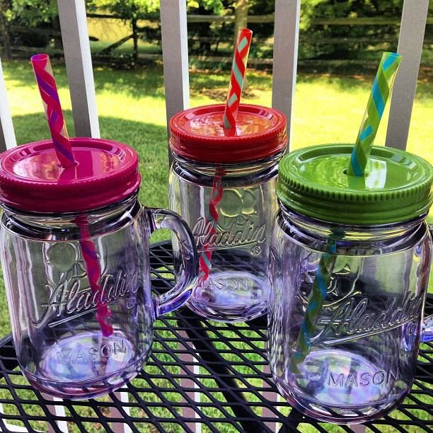Summer Must Have: Plastic Mason Jar Straw Cups | Jars, Summer and ...