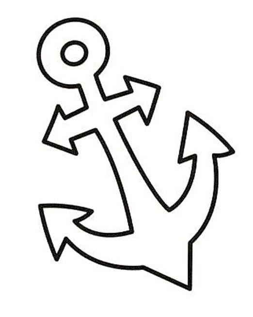 Coloriages ancre 2 coloriages pinterest coloriage deco mer et bateaux - Dessin ancre bateau ...