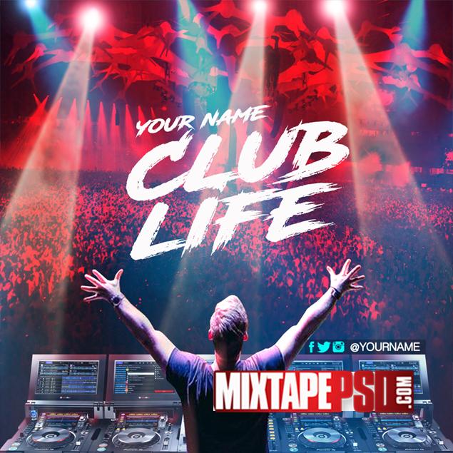 Mixtape Template Club Life Get More Editable Psd Templates Http Www Mixtapepsd Com Graphic Design Website Cover Template Mixtape Cover
