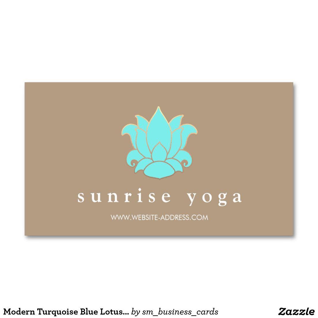 Modern turquoise blue lotus yoga instructor business card business modern turquoise blue lotus yoga instructor business card colourmoves
