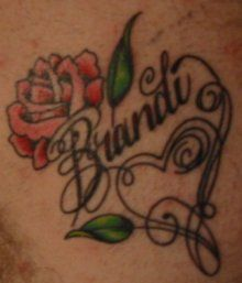 Wifes Name On Chest And Heart Rose Heart Tattoo Rose Heart Tattoo Heart Tattoo Rose Tattoos
