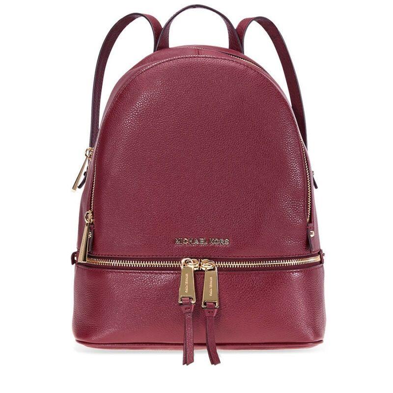 1c0461217f6b Michael Kors Rhea Medium Leather Backpack - Oxblood 30S5GEZB1L-610 ...