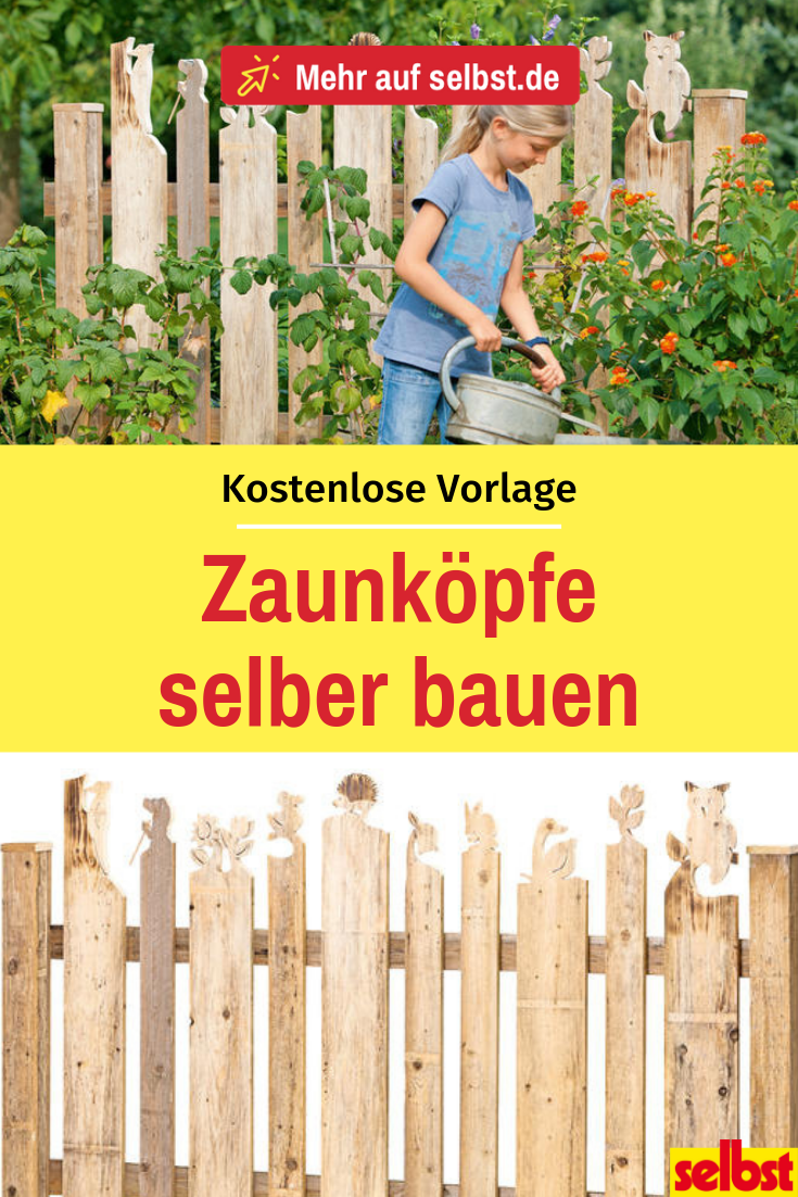 DIY: Zaunhocker mit kostenloser Vorlage #zaunideen