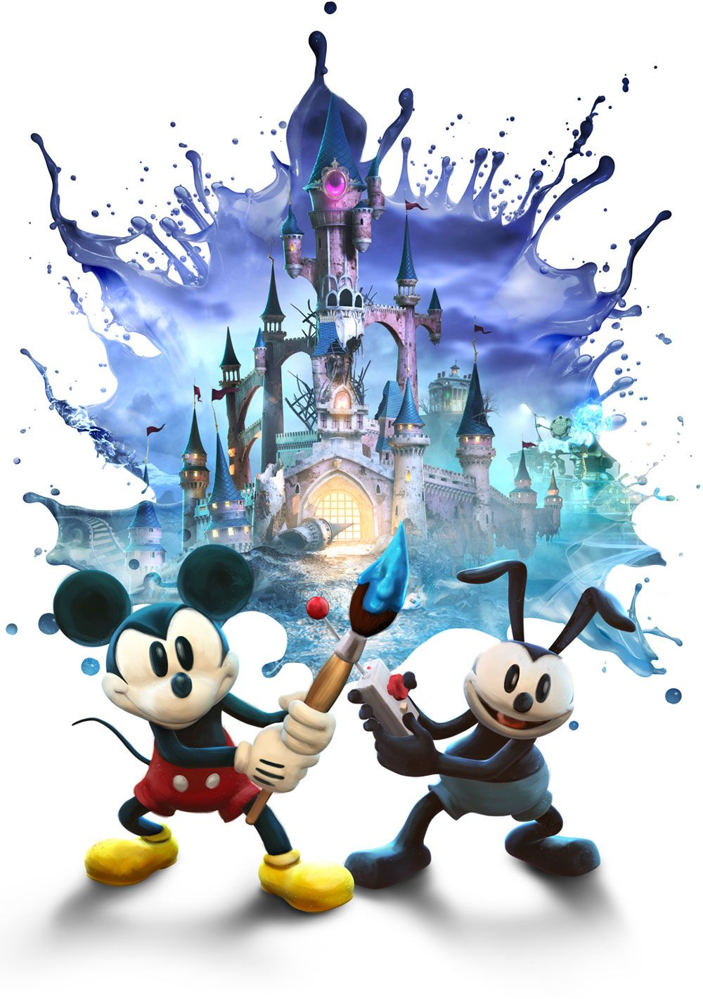 Epic Mickey 2: The Power of Two - Main Artwork   disney   Pinterest