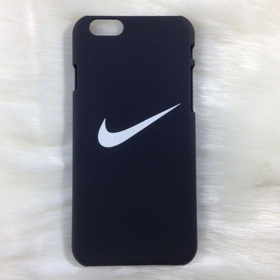 Black Nike iPhone case white logo