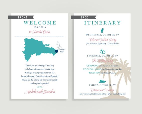 Destination Wedding Welcome Note Welcome Letter beach Destination - best of invitation letter of conference