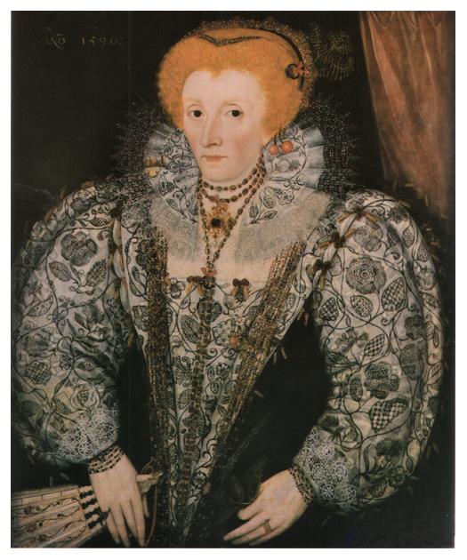 Blackwork On Queen Elizabeth 1 Elisabethanische Mode Elisabeth I Portrat Frauen