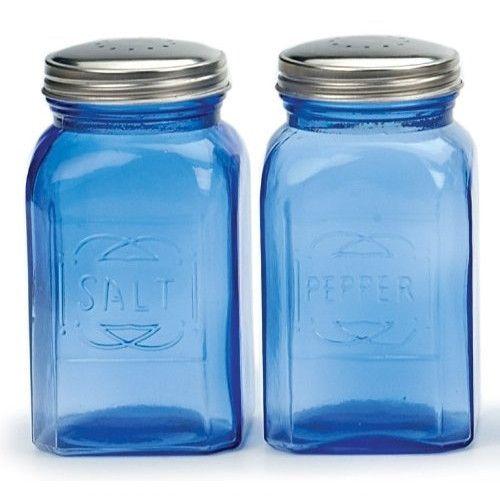 Retro Salt & Pepper Shakers – Blue, 8 oz. (.24L) – ArtsiHome