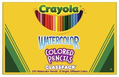 Crayola 68 4240 Crayola Watercolor Wood Pencil Classpack 3 3 Mm