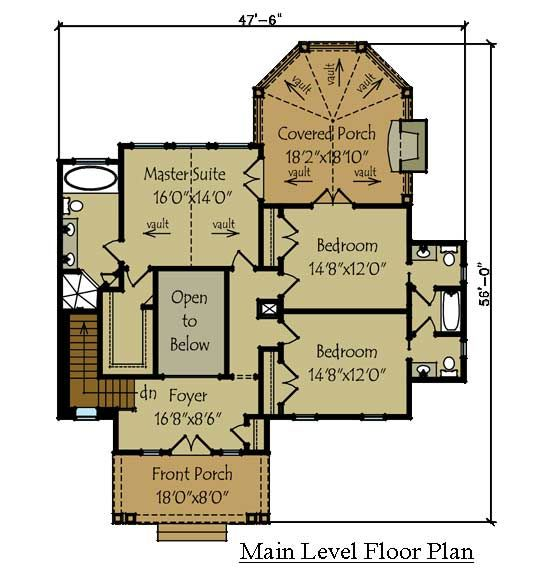 High Quality 2 Story Rustic Lake House Plan By
