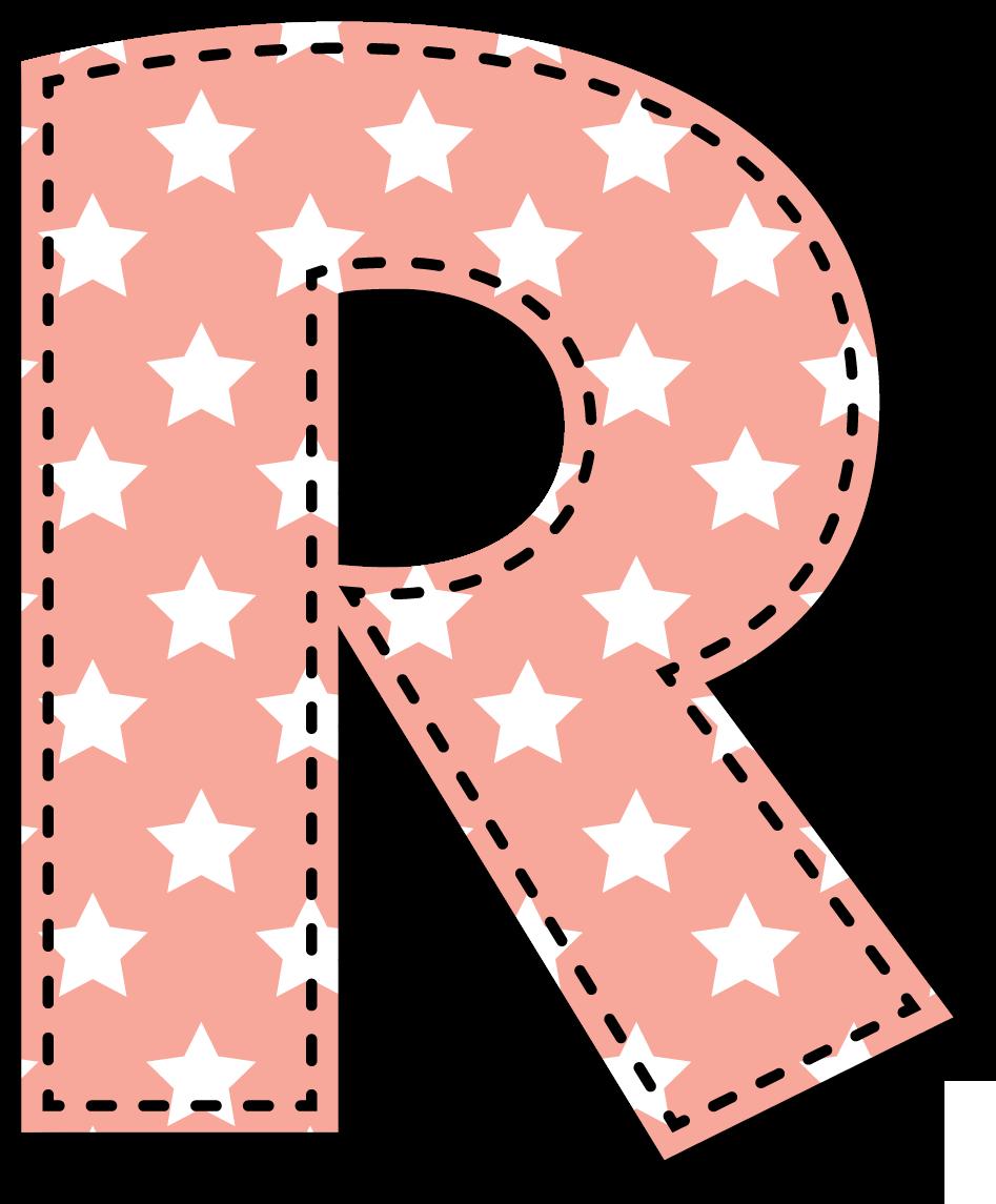R may scula alphabet letras pinterest letras abecedario y n meros - Letras grandes decoradas ...