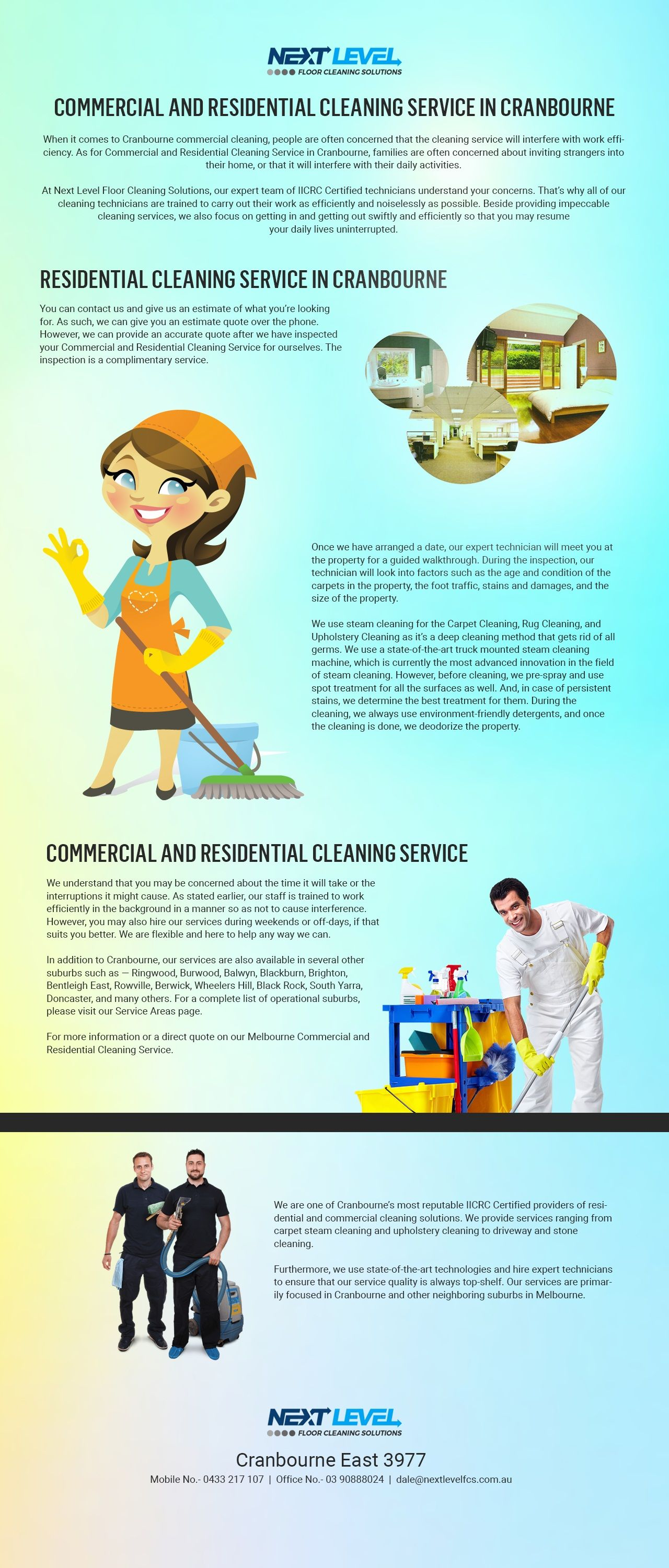Commercial and Residential Cleaning Service in Cranbourne