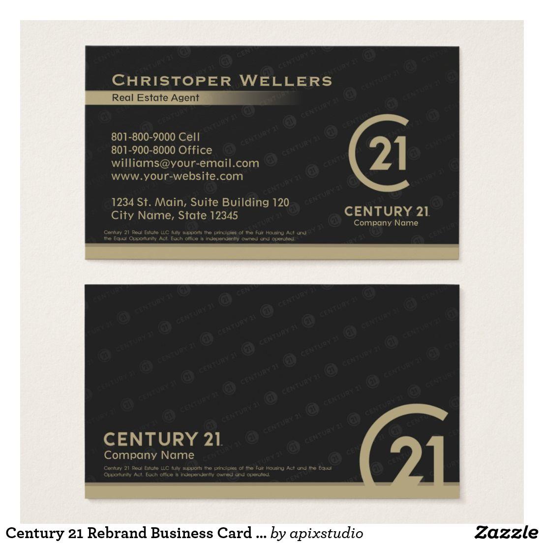 Century 21 Rebrand Business Card Design Zazzle Com Business Card Design Card Design Business Cards