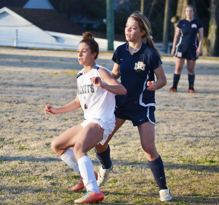 SHEARIN HEADED TO OLYMPIC SOCCER CAMP. Harley Shearin, left, of Roanoke Rapids High School will head to Alabama, July 11-15 to represent North Carolina at the Region III Olympic Development Soccer Camp.