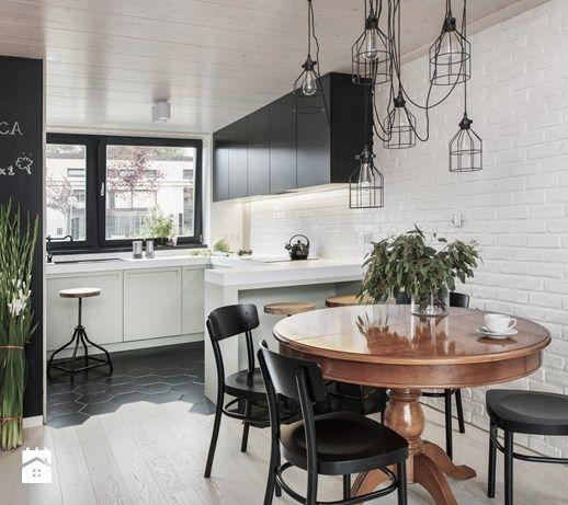 Eklektyczny loft Średnia otwarta kuchnia w kształcie litery g z
