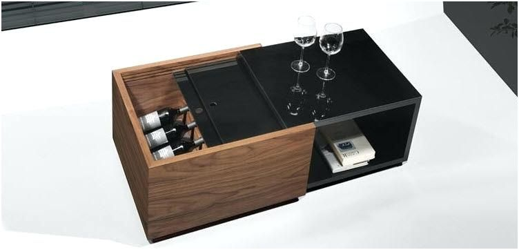 13 Aimable Table Basse Bouteille Pics In 2020 Table Storage Black Coffee Tables Coffee Table With Storage