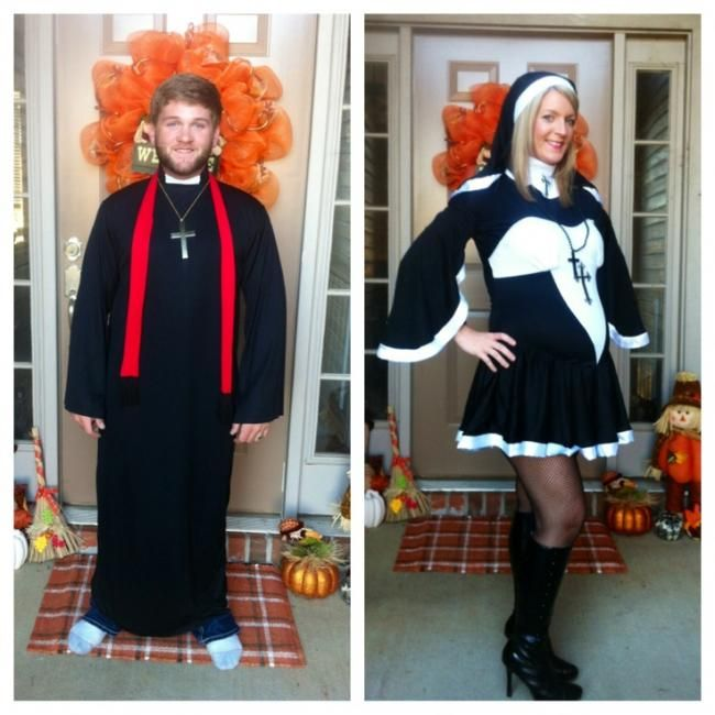 Priest And Pregnant Nun Costumes For Couples Davinci Hosting