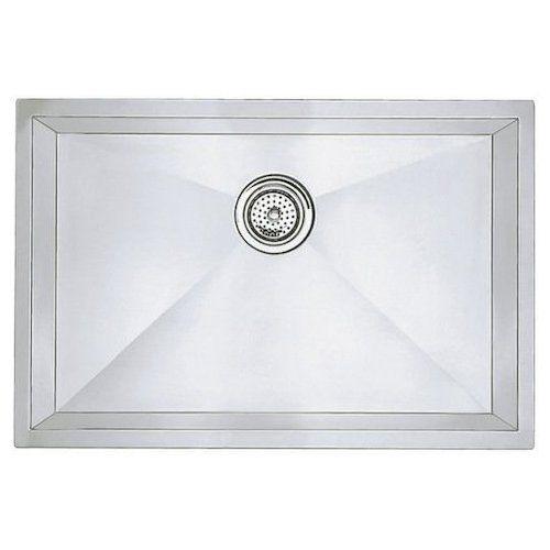 Blanco 25 Inch Precision R0 Undermount Single Bowl Kitchen Sink Polished Satin 515819 Undermount Stainless Steel Sink Stainless Steel Undermount Sink