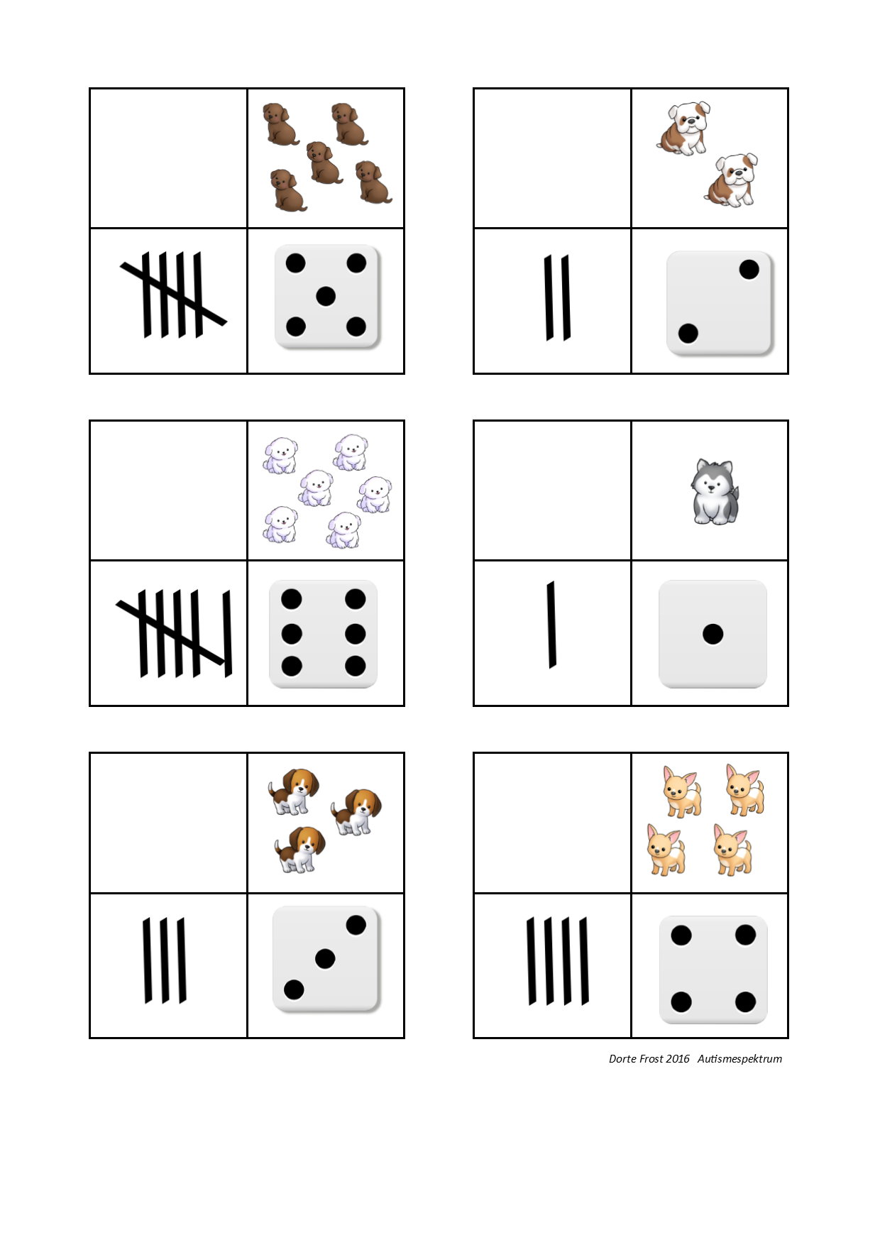 Tiles For The Dog Math Sorting Game By Autismespektrum