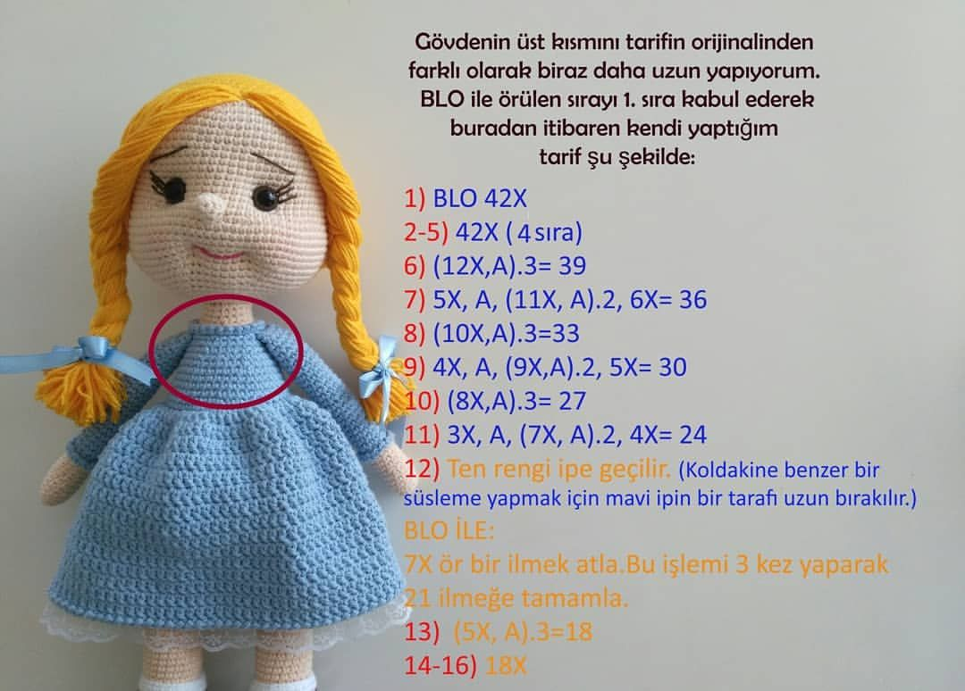 Amigurumi Tini Mini Kız-Amigurumi Tini Mini Doll | 774x1080
