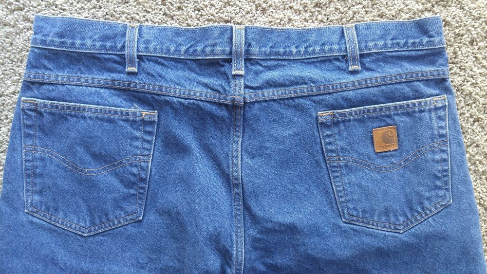 84532af9835 Carhartt Men's B17 Relaxed Fit Jeans Size 44 X 32 Zip Fly Cotton Blue - NWOT