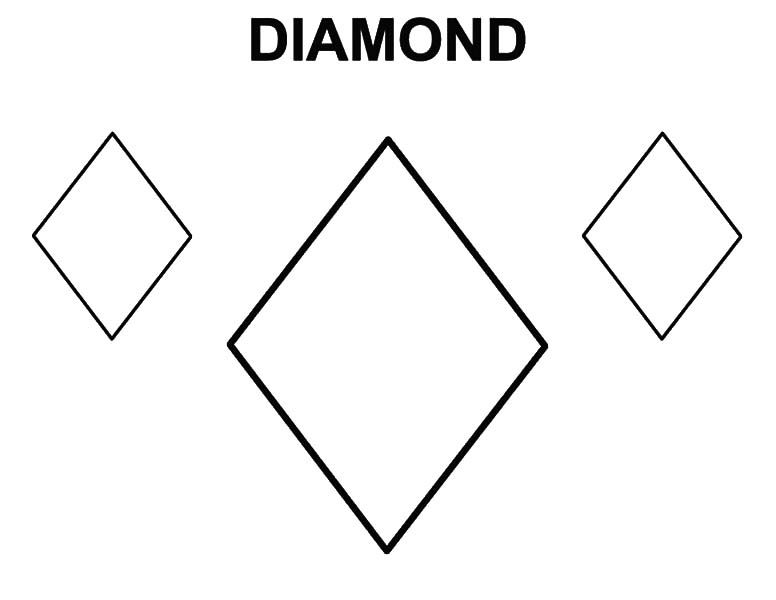 Diamond Shape Learning To Draw Diamond Shape Coloring Pages