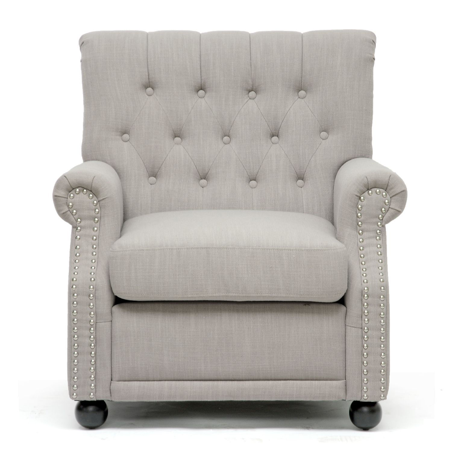 Add a modern twist to your home decor with this linen club chair