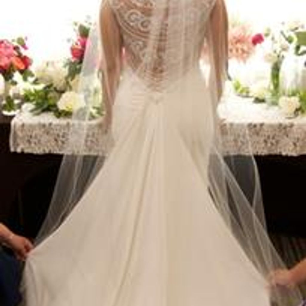 Beaded stretch crepe wedding dress davidus bridal ohh one day in