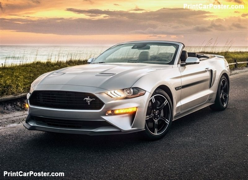 Ford Mustang Gt California Special 2019 Poster With Images New