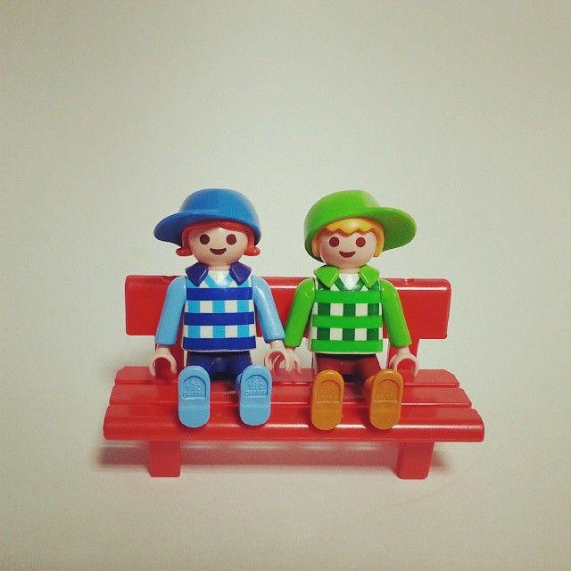 체크남방을 입은 꼬맹이 커플♡ 의자는 별도! #플레이모빌 #playmobil #루나러브굿
