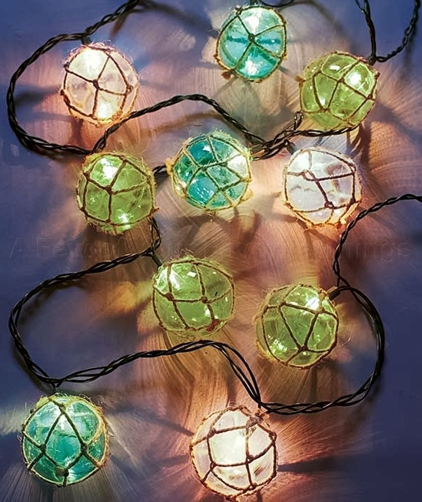 Vintage Float String Lights Sea Beach Theme Patio Porch Deck