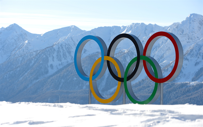 winter olympics teams background