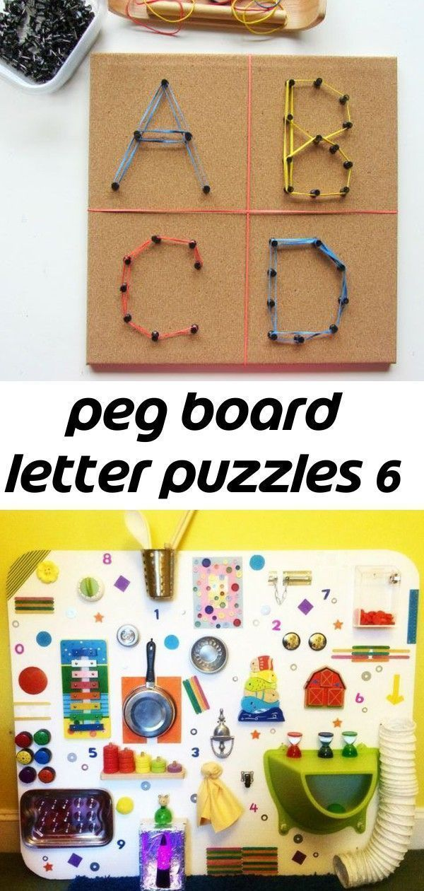 Peg board letter puzzles 6 #activityboardselbermachen activity-board-selber-mach... - My Blog