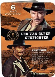 This set includes 6 wild westerns starring Lee Van Cleef on 2 DVDs in a collector's tin. Description from cduniverse.com. I searched for this on bing.com/images
