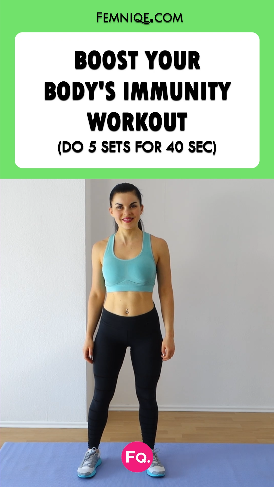Exercise is scientifically proven to help boost your immune system. Add this quick workout to your m...
