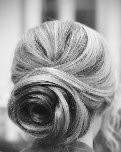 hair - bun, updo. classic and elegant.