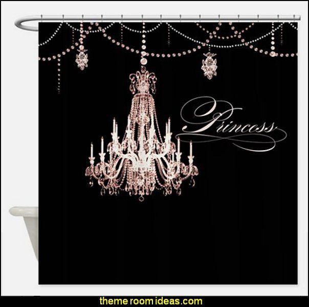 Princess chandelier girly jewel pearl design shower curtain kids princess chandelier girly jewel pearl design shower curtain aloadofball Image collections