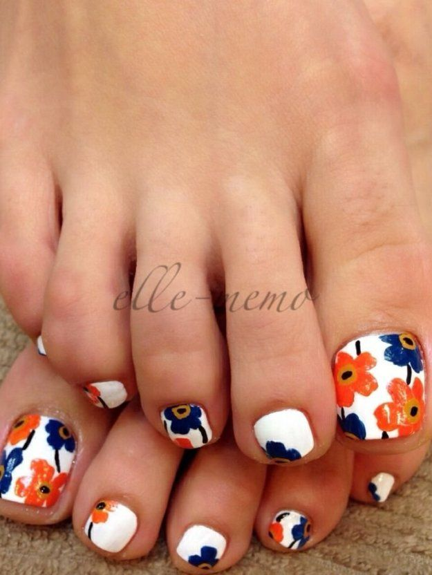 Cute toenail designs for spring and summer. #Beautiful toe nail designs  Related - Cute Toenail Designs For Spring And Summer. #Beautiful Toe Nail