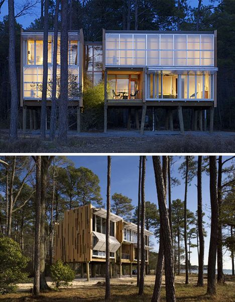 Flood proof prefab beach house on stilts architecture for Stilt homes for sale