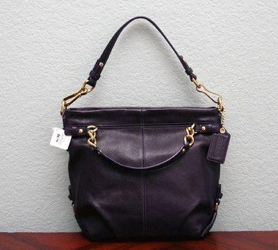 Shoulder Hobo Bag 14142 Eggplant